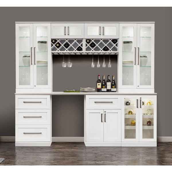 8 piece shaker style home bar 2