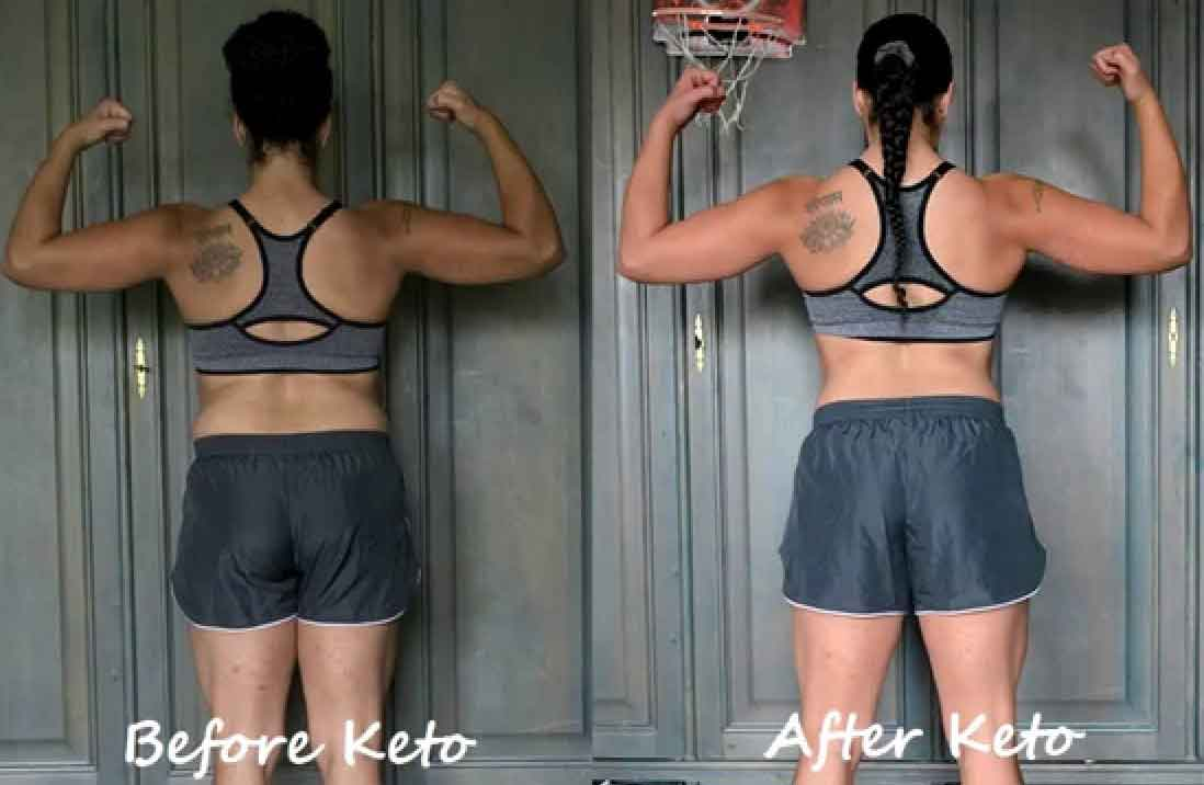 Keto diet before and after 90 days 10