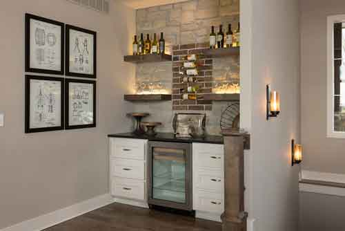 6 piece shaker style home bar 10