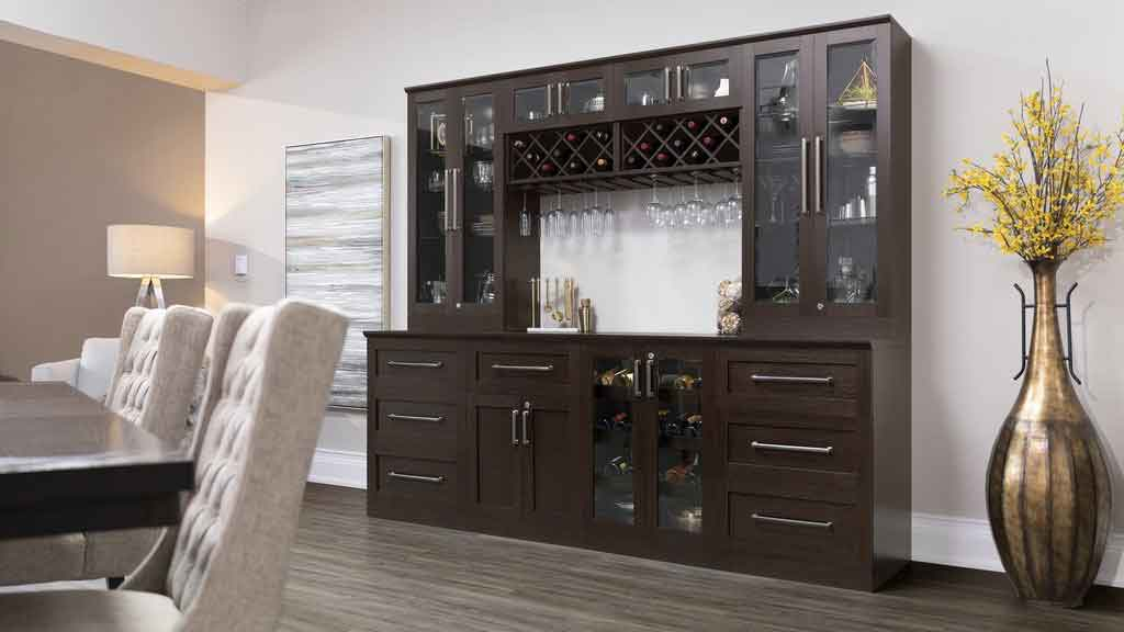 6 piece shaker style home bar 13