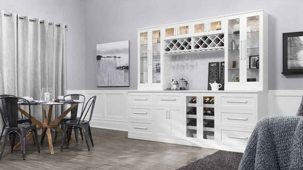 6 piece shaker style home bar 2