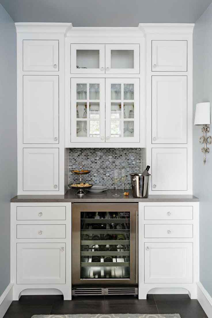 6 piece shaker style home bar 4