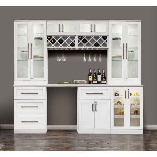 6 piece shaker style home bar 5