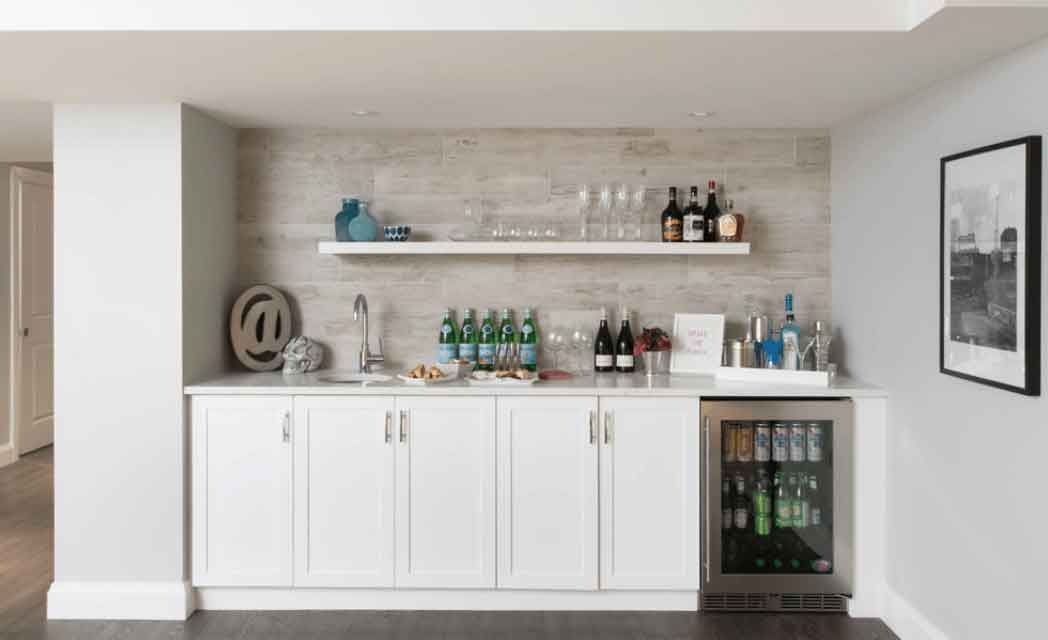 6 piece shaker style home bar 6