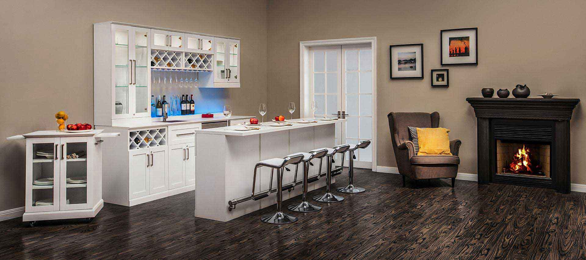 6 piece shaker style home bar 8