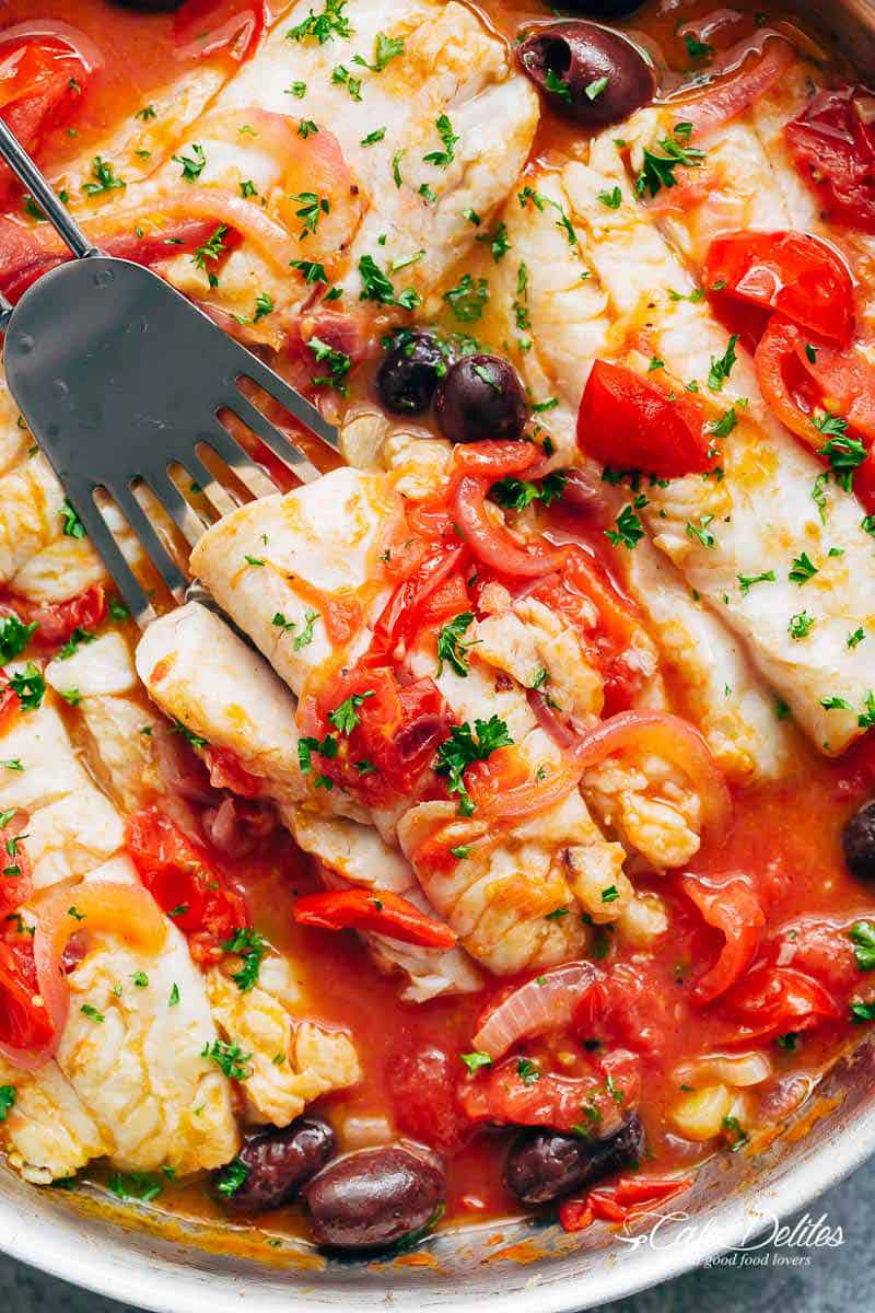 Exquisite White Fish With Simmered Tomatoes 10