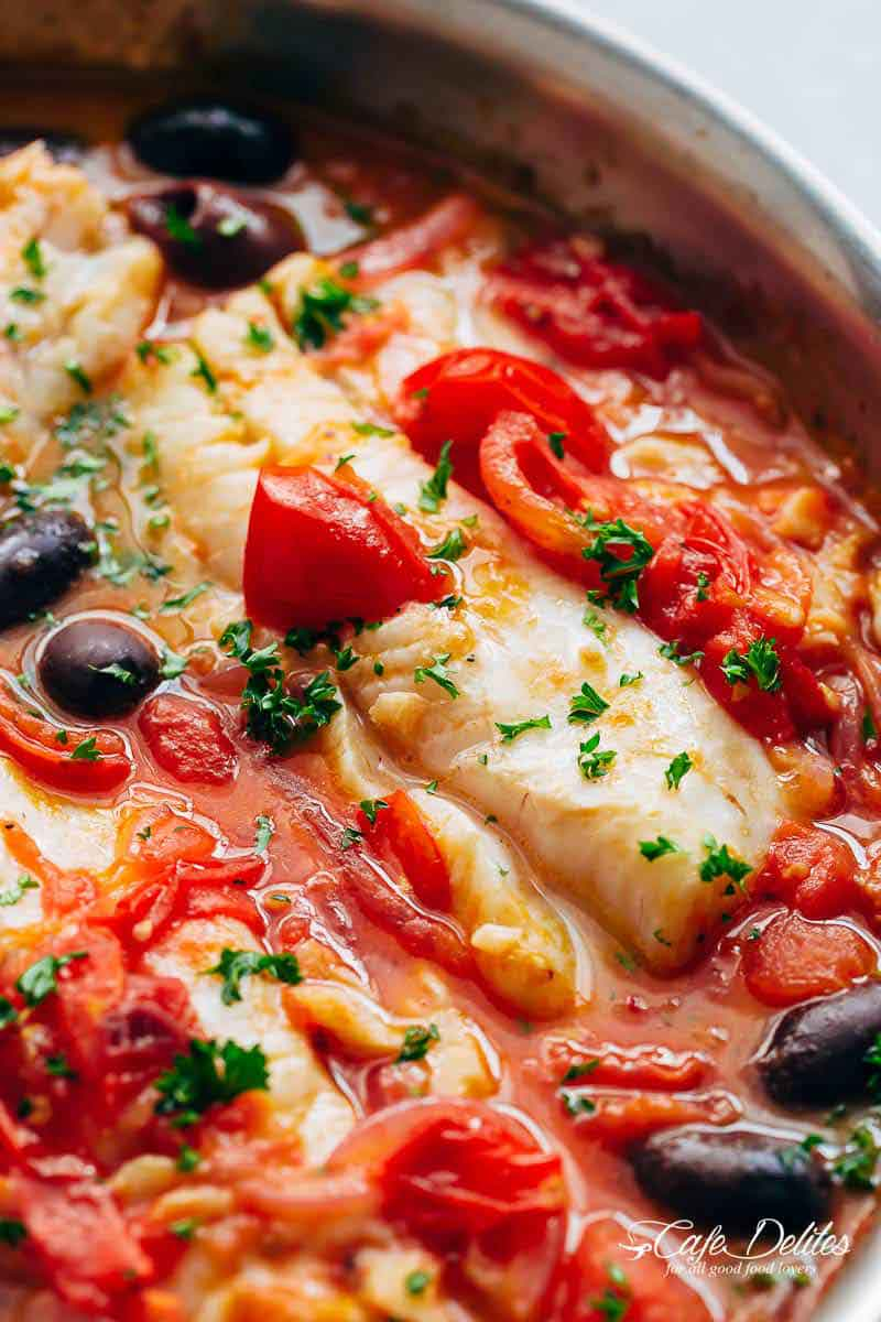 Exquisite White Fish With Simmered Tomatoes 12