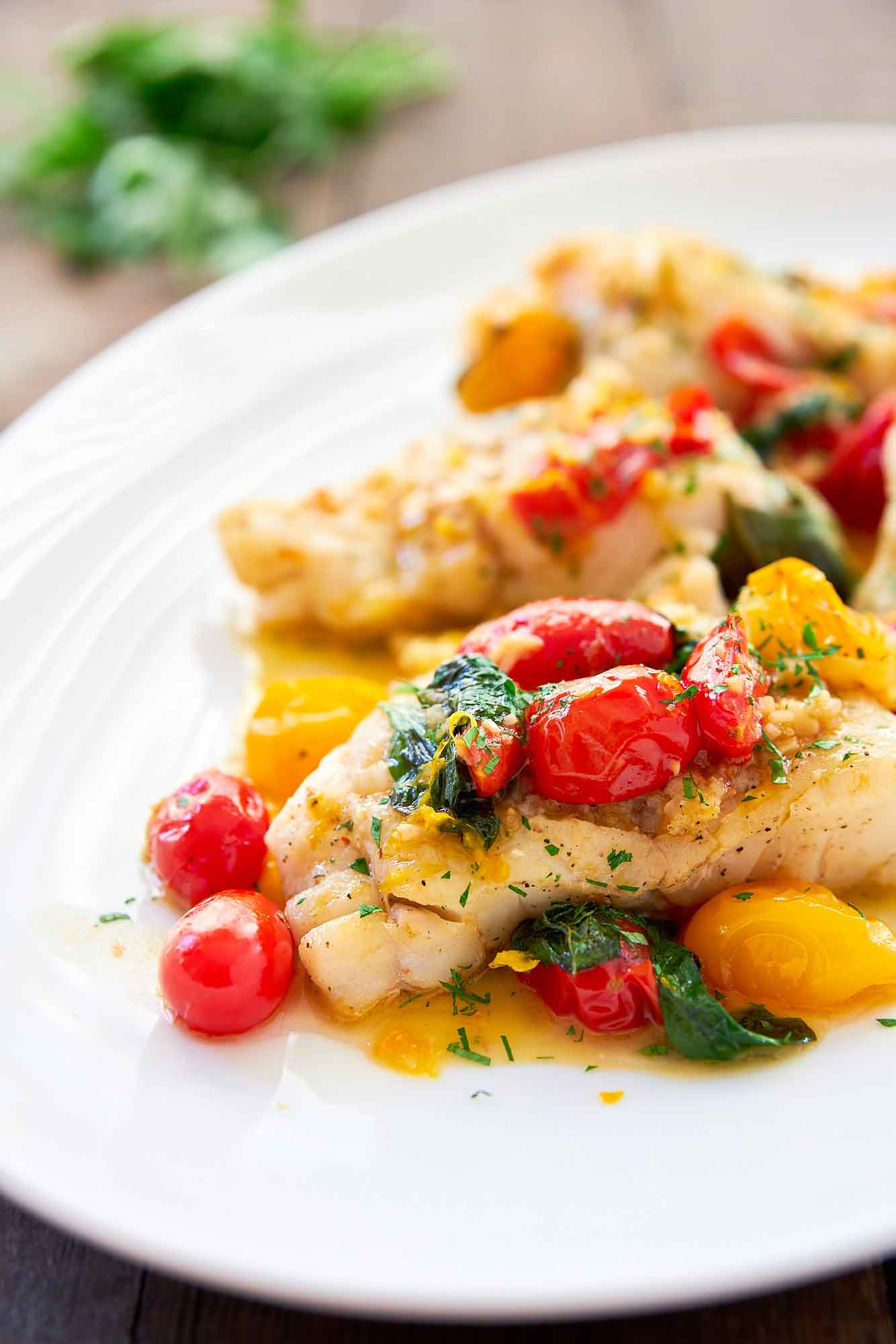 Exquisite White Fish With Simmered Tomatoes 13