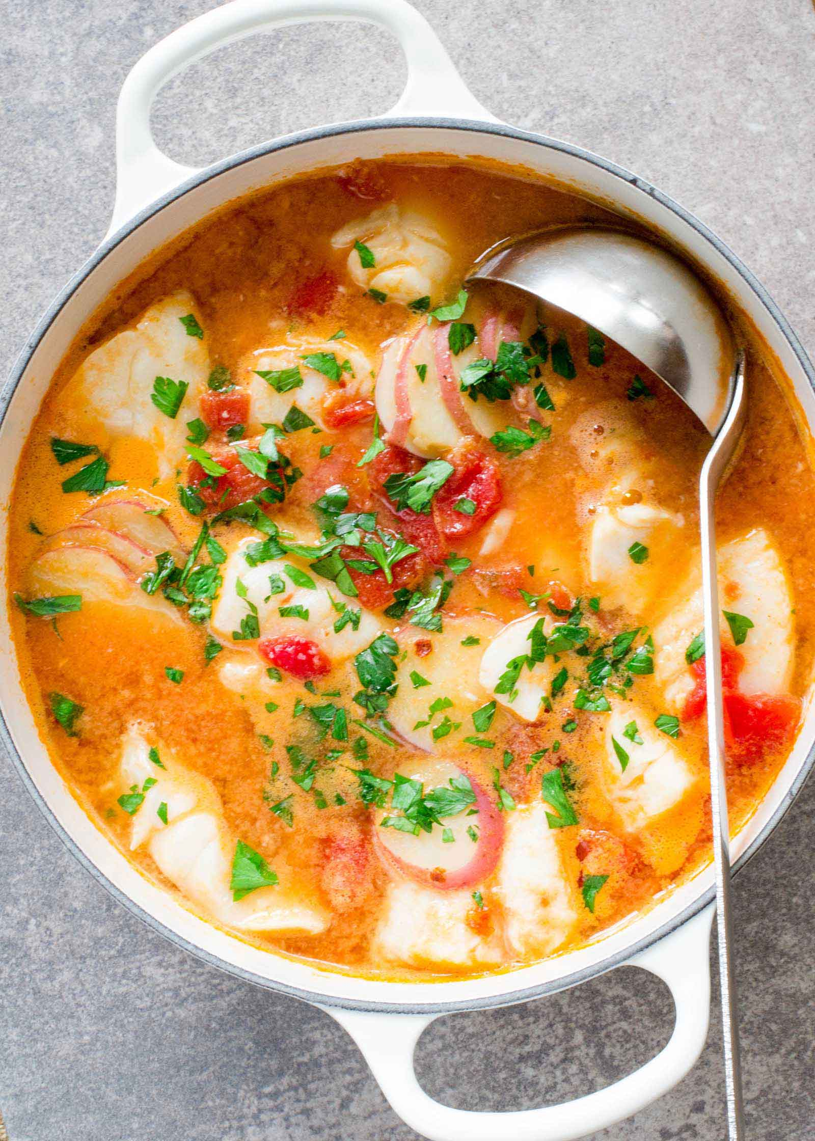 Exquisite White Fish With Simmered Tomatoes 14