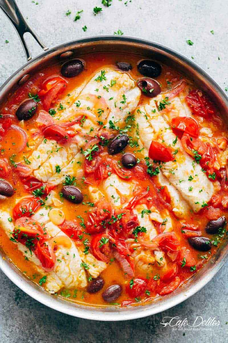 Exquisite White Fish With Simmered Tomatoes 4