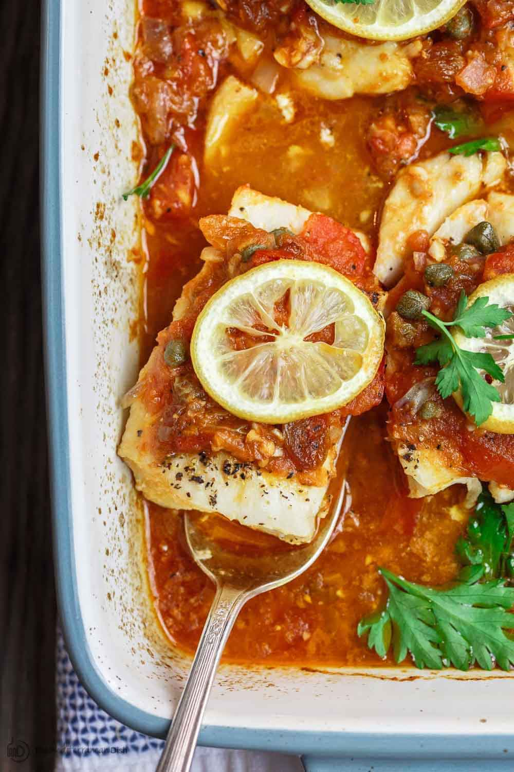 Exquisite White Fish With Simmered Tomatoes 8