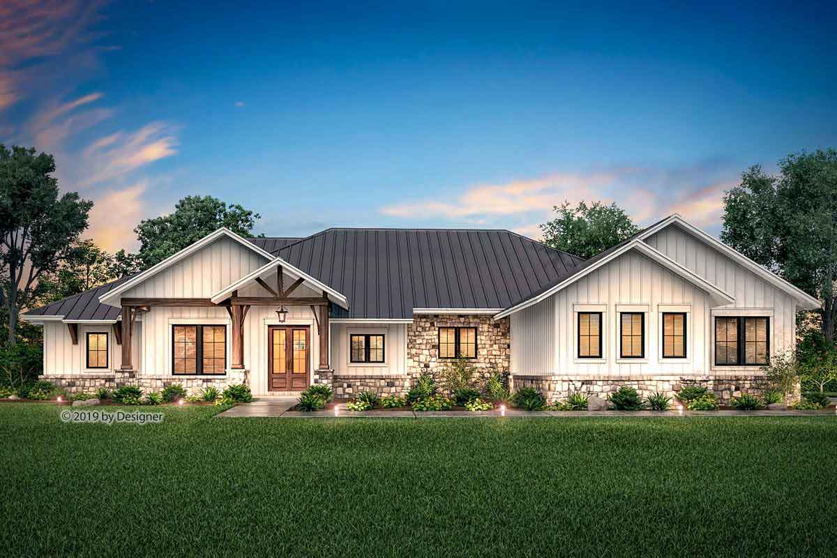 4 bedroom ranch style home plans with basement
