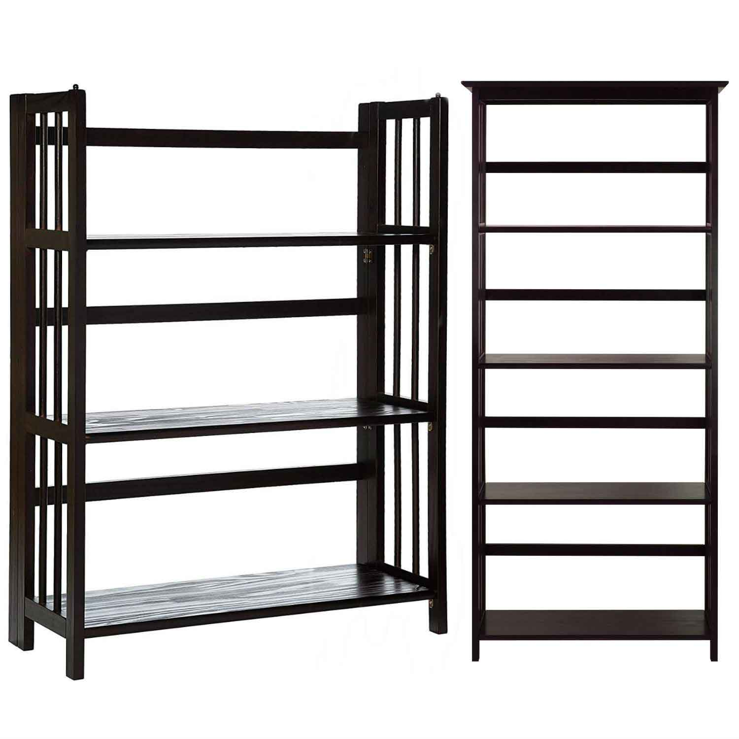 Casual home mission style 5-tier bookcase 3