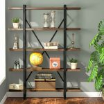 Casual home mission style 5-tier bookcase 4