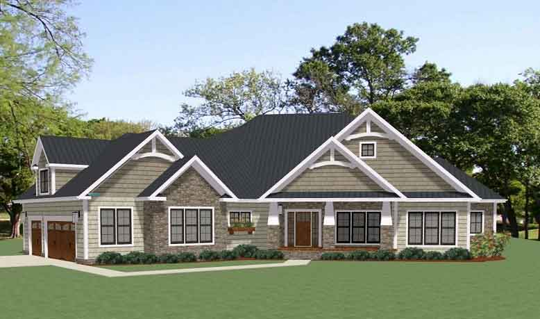 2 story craftsman style home plans 1