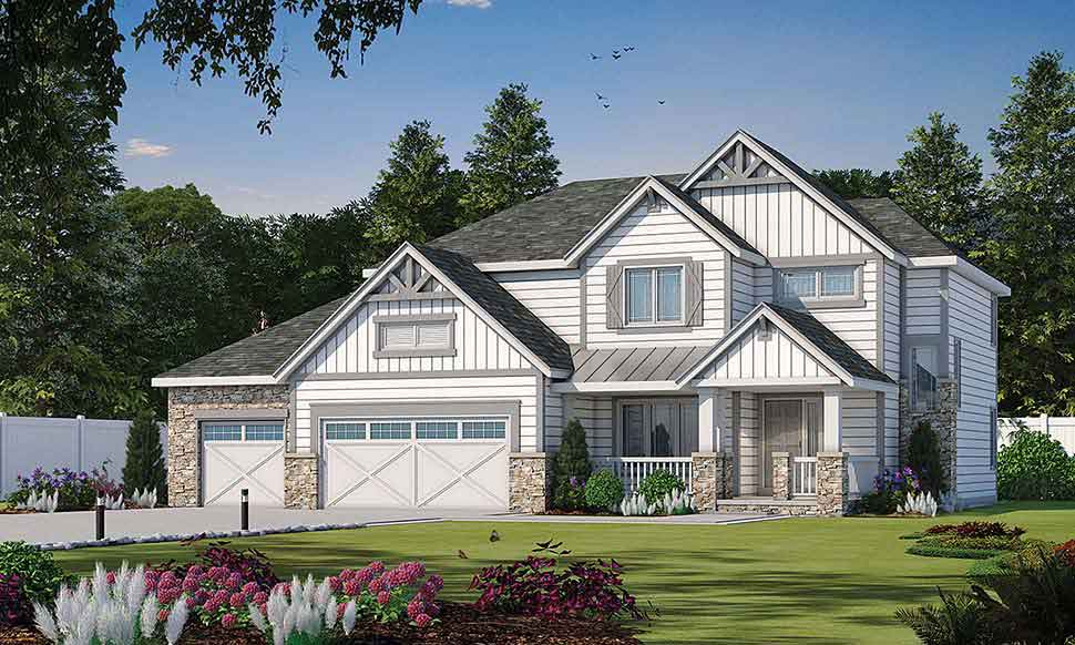 2 story craftsman style home plans 4